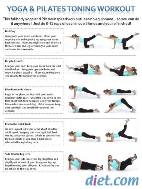 pilates toning workout exercises