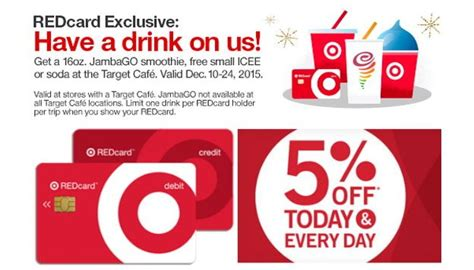 Target Gift Card Not Working - didn t shred your target red card get a free drink daily through december 24th