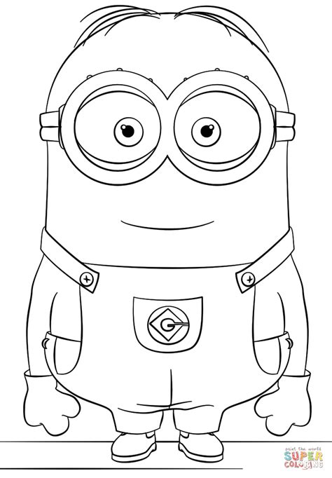 coloring pages minion stuart minion dave coloring page free printable coloring pages