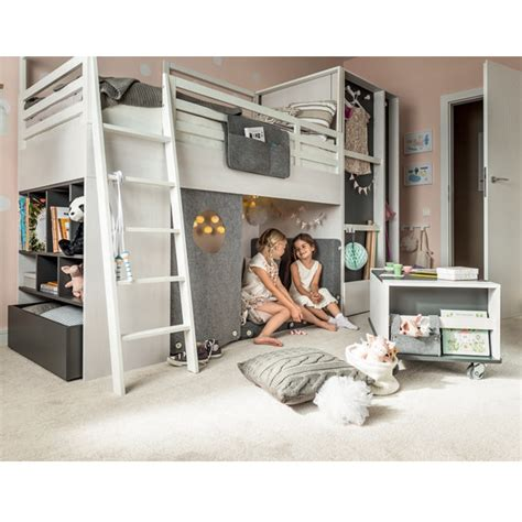 nest cabin bed in larch effect graphite nest bed
