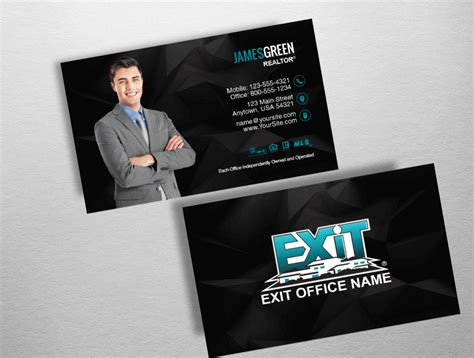 exit realty business cards template top 10 exit realty business card designs exit realty