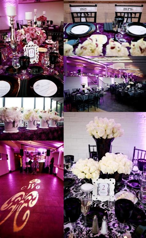 true wedding story our purple black and white wedding details revealed and
