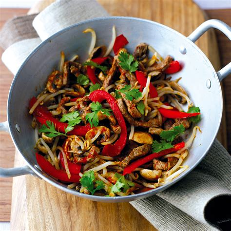 Todays Special Stir Fried Peking With Peppers And Green Beans by Sizzling Steak Stir Fry Healthy Recipe Weight Watchers Uk