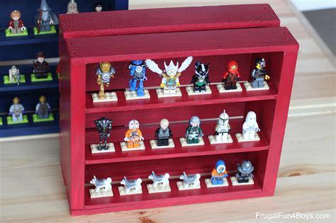 Mini Storage Box Display diy wooden crate lego minifigure display
