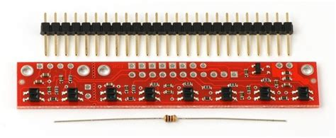 arduino resistor array pololu qtr 8rc reflectance sensor array