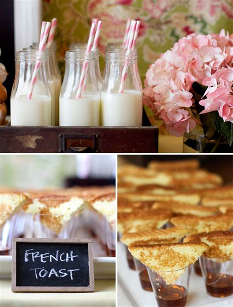 theme wedding shower menu san diego style weddings style inspiration bridal shower brunch