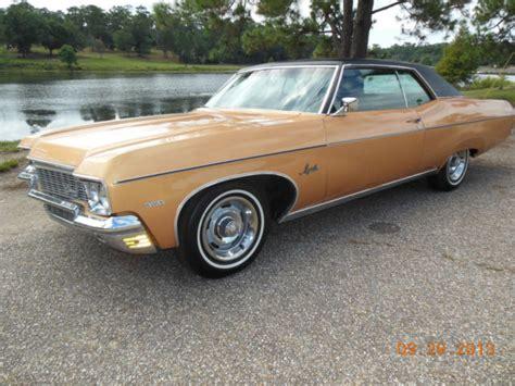 1970 chevy impala 2 door 1970 chevy impala 350 2 door coupe gold black interior