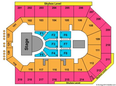 citizen bank arena seating chart citizens business bank arena tickets in ontario california