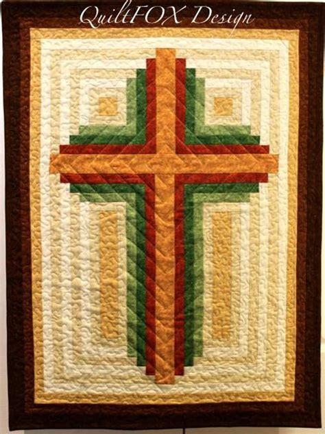 quilt pattern cross log cabin christian cross multiple sizes craftsy