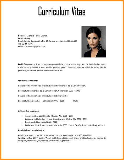 Resume Sample Objectives by 6 Curriculum Vitae Em Word Resume Setups
