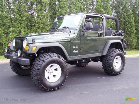 2004 Jeep Wrangler Willys 2004 Moss Green Pearlcoat Jeep Wrangler Willys Edition 4x4
