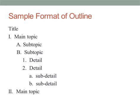 Topic Presentation Outline by Why And How To Create A Useful Outline Ppt