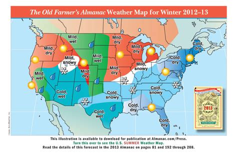 map of weather promotional weather maps from the farmer s almanac