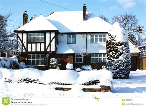 house snow house with snow stock photos image 16358923