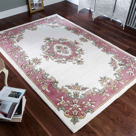 the rug seller royal aubusson wool rugs in pink free uk delivery the rug seller
