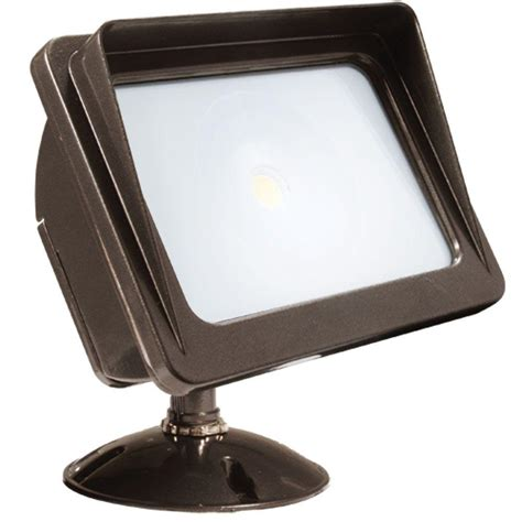 Led Outdoor Lighting Wall Mount Glomar Tony 1 Light Bronze Flood Light Cli Sc766466 The Home Depot