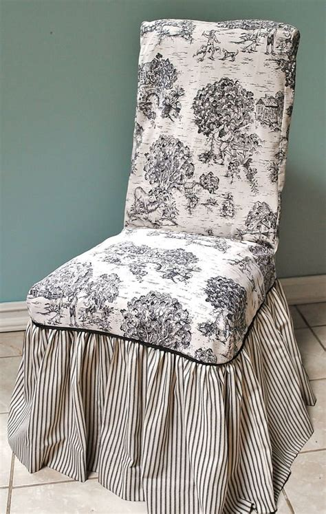 toile armchair toile and ticking chair cover slipcovers pinterest i