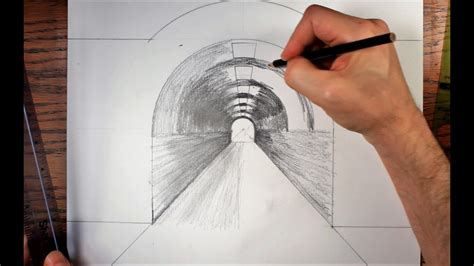 How To Draw A Tunnel In Perspective how to draw a tunnel using forced perspective