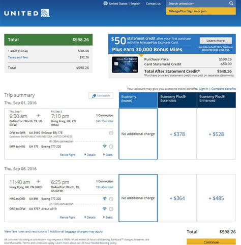united airlines booking 571 599 dallas to china hong kong incl