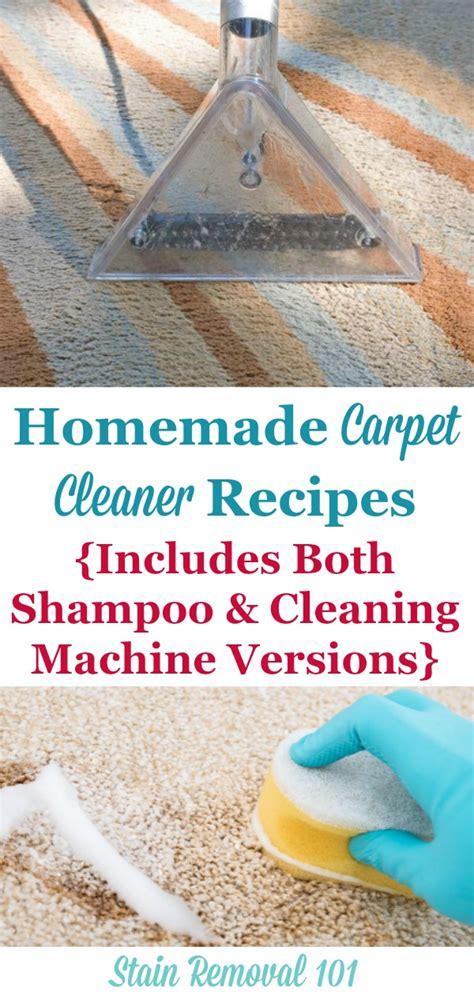rug cleaner recipe carpet cleaner and carpet shoo recipes