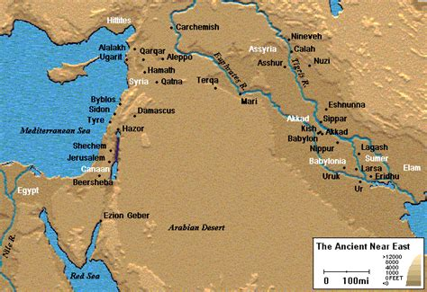 middle east map in biblical times christian anthropology june 2010