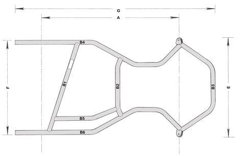 a frame blueprints kart frames plans octane cik homologated chassis