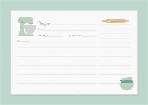 6 best images of vintage 4 x 6 printable recipe card