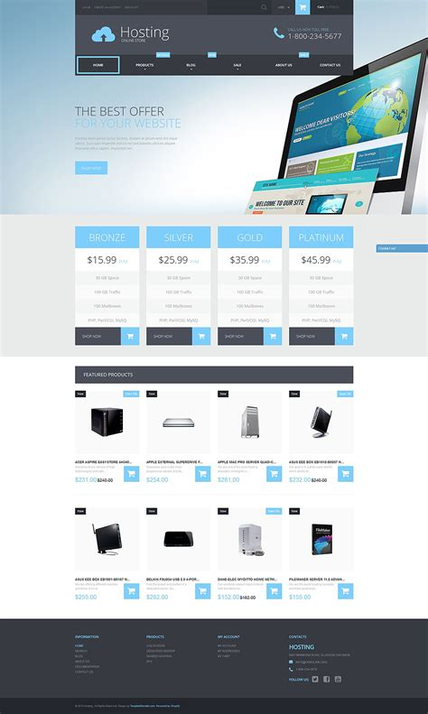 shopify themes for services web hosting services shopify theme 52598