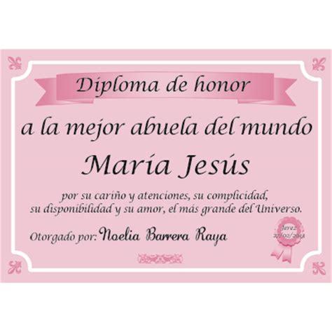 certificado a la mejor abuela del mundo para imprimir gratis picture diploma a la mejor abuela del mundo