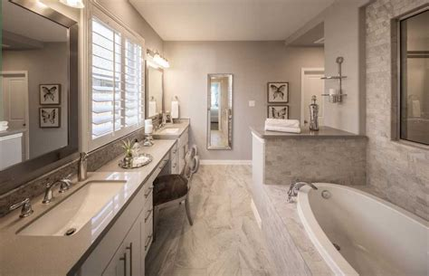 highland bathrooms model home in houston texas elyson 55s community
