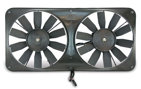 flex a lite adjustable electric fan controllers flex a lite dual 11 quot electric radiator fans w shroud