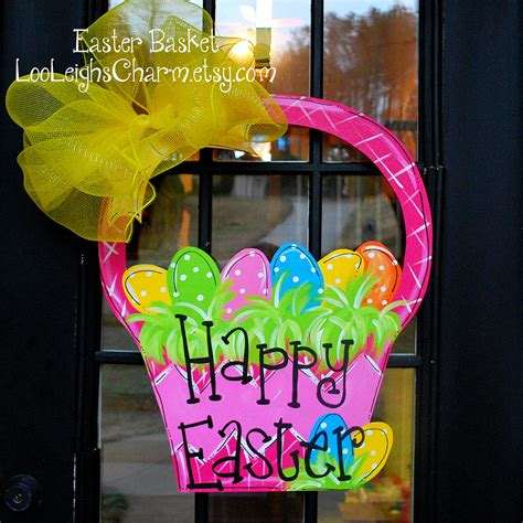 Easter Door Decorations | easter door hanger easter decoration easter basket door