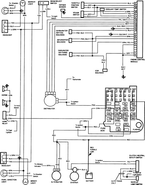gm factory wiring diagram 1985 gm free engine image for