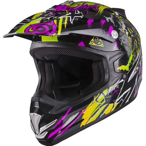 purple motocross helmet shox mx 1 nightmare black purple green motocross