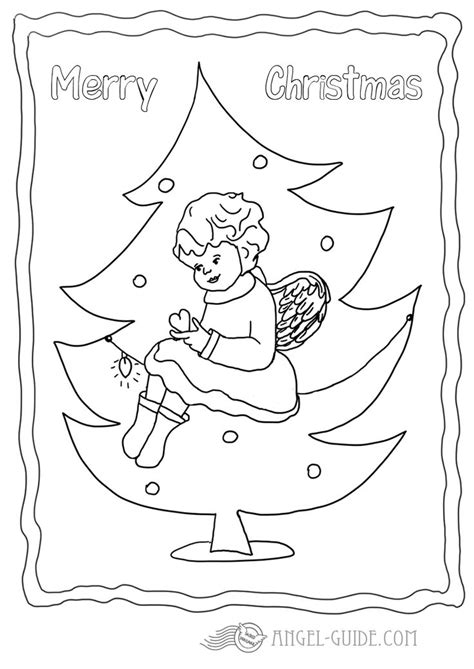 christmas tree angel coloring page 1000 images about christmas angels on pinterest