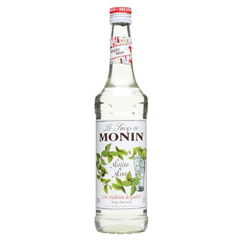 mojito cocktail bottle monin mojito mint syrup 70cl bottle buy at drinkstuff