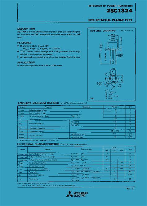 transistor tpb 2sc1324 532896 pdf datasheet ic on line