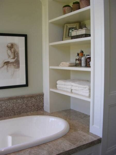 shelving in bathroom 2017 grasscloth wallpaper