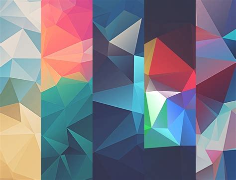 free 10 colorful low poly textures titanui