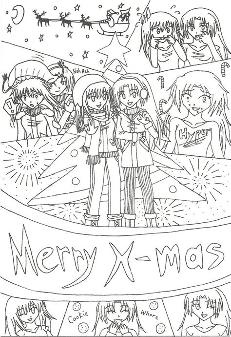 christmas picture outline card outline by kawaii17 on deviantart