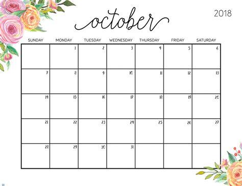 printable calendar oct 2018 free printable 2018 calendar with weekly planner