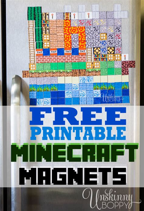Halloween And Fall Decorating Ideas - minecraft magnets make your own free printable unskinny boppy