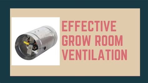 guide  effective grow room ventilation grow room