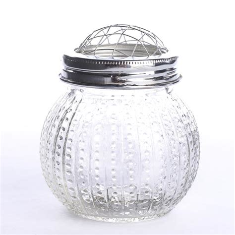 Glass Vase With Lid Hobnail Glass Vase With Frog Lid Floral Containers