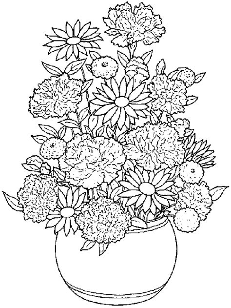 coloring pages of flowers in a pot flower pot coloring pages for kids