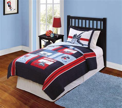 boy twin bedding hockey game sports navy blue teen boy bedding set twin
