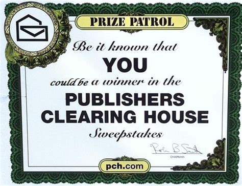 Publishers Clearing House Sign In - be it known that alexander henderson is a winner in the publishers clearing house
