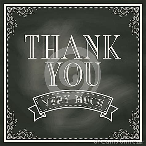 Chalkboard Thank You Card Template by Thank You Card With Chalkboard Background Stock Vector