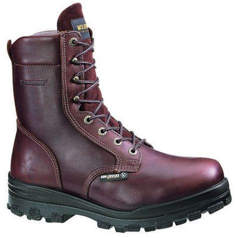 insulated steel toe boots wolverine s 8 in durashocks wp insulated steel toe