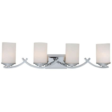 Yosemite Home Decor Vanity Lighting Family 4 Light Chrome White Bathroom Lighting